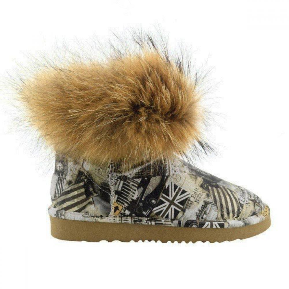 Mini Fox Fur Travel Полусапоги - image 1 of 7