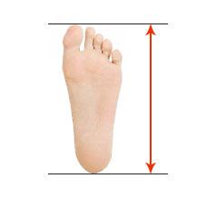 Измерить длины стопы